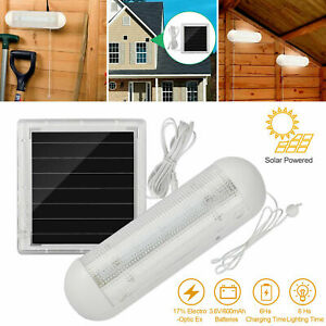 Solar Power 5LED Shed Light Lampe ziehen Corridor Wall Indoor Garden Yard Garage