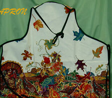 Thanksgiving Harvest Festival NEW APRON~100% cotton~MADE IN U.S.A.