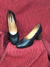 Top Shop Black Leather Ladies Shoes Size 7