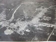 Photo aérienne 1914 GERBEVILLER après le Bombardement