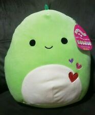 Squishmallow 12 inch Green Dinosaur Valentine's Day Collection Danny New Plush
