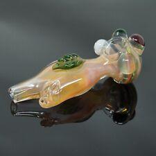 Handmade Peach Pink Nude Organ Leaf Smoking Glass Pipe 5 inch - USA Seller