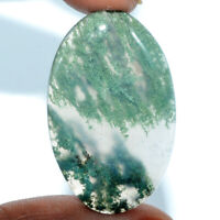 Cts. 43.30 Natural Moss Agate Cabochon Oval Cab Loose Gemstones