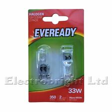 10 x G9 33w=40w EVEREADY DIMMABLE ENERGY SAVING bulbs Capsule (5 twin Packs)