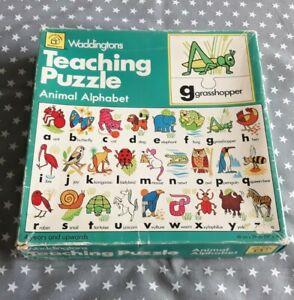 Waddingtons Animal Alphabet Teaching Jigsaw Puzzle 4 years and Upwards Vintage