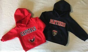 NWT NHL Florida Panthers, Washington Capitals Infant / Toddler Hoodie Sweatshirt