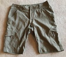 THE NORTH FACE WOMENS CARGO POCKET SHORTS SIZE 4 100% NYLON Excellent! C6