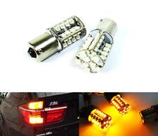 2x 1156 P21W BA15s 7506 Amber 40 SMD LED Rear Turn Signal Light Bulbs for BMW