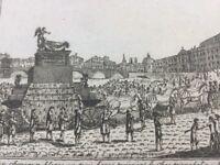 Voltaire au Panthéon 1791 Retour cendres Révolutions de Paris gravure ancienne