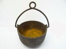 Antique Cast Iron Metal Bell System Telephone Company Small Lead Melting Pot