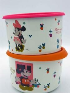 Tupperware 2 Vorratsdosen Mickey Mouse 2'er Set 2x940 ml Mickey & Minnie Mouse