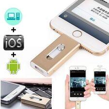 128GB New OTG Dual USB Memory i Flash Drive U Disk For IOS iPhone iPad/PC Silver