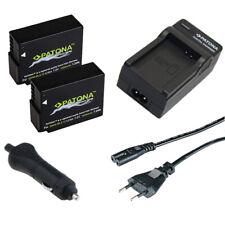2x Batterie Patona + Chargeur de Maison/Auto Pour Panasonic Lumix DMC-FZ1000