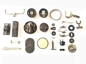 Various Antique Telephone Parts - Forks, Faceplates, Coil, Terminals & more
