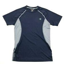Champion Power Flex Compression Shirt Size Medium Fitted Short Sleeve Gray Blue