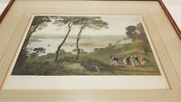 Antique print 1816 Devonport Plymouth Devonshire hand coloured Cooke England