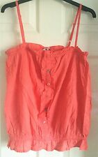 Peach New Look Ruffle Cami Top Size 14 New