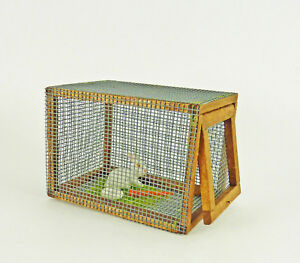 Dollhouse Miniature Artisan Made Bunny Rabbit Small Hutch with Bunny