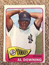 +++ AL DOWNING 1965 TOPPS BASEBALL CARD #598 - NEW YORK YANKEES +++