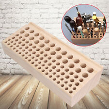 New listing Wood Tool Rack Stamp Stand Leather Stamps Craft 98Hole Durable Organizer Diy Usa