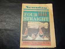 1983 Stanley Cup Finals Newspaper Newsday New York Islanders vs Edmonton Oilers