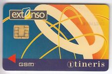 TELECARTE GSM SIM COLLECTOR .. FRANCE ITINERIS EXTENSO CELLWAY  +N° CHIP/PUCE