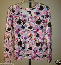 New Forever 21 Juniors 2014 Ltd Ed Barbie Print Graphic Pullover Sweatshirt S