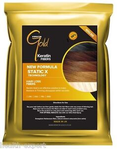 Hair Thickening Fibres   Hair Loss & Balding   Natural Keratin Fiber   Black 50g