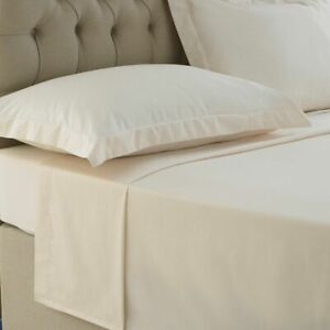Luxury 100% Egyptian Cotton Flat Sheet Hotel Quality 200 TC Single Double King