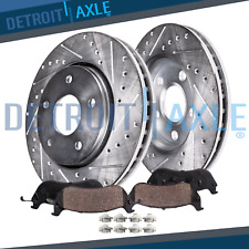 Front 2006 - 2012 Fusion MKZ 6 Milan DRILLED SLOTTED Rotors Ceramic Brake Pads