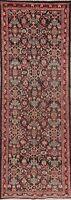 Antique Vegetable Dye Dark Brown 10 ft Runner Sultanbad Wool Rug Handmade 3'x10'