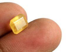 Certified 2.40 Ct Natural Emerald Cut Srilankan Yellow Sapphire Gemstone #99835