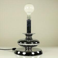 Alte Tisch Lampe Chrom poliert Metall Fuß Lese Leuchte 60er 70er Jahre