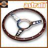 "14"" Astrali® Semi Dished Classic Vintage Car Wood Rim Steering Wheel"