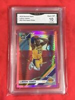Gem Mint 10: 2019 Lebron James, PRIZM Donruss Optic PINK Hyper #60, Lakers