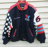 Mark Martin Leather/Wool Jacket Jeff Hamilton Valvoline Roush Racing USA Large