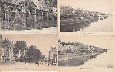 Lot 4 cartes postales anciennes MACON