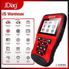 JDiag906S Super Car Code Reader OBD2 I/M Automotive Scan Tool Large Color Screen