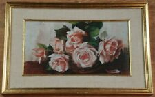 Romer Oil Painting of Pink Roses