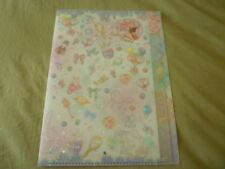 RARE Sailor moon crystal jumbo file 5 pocket folder holder plastic clear Chibimo