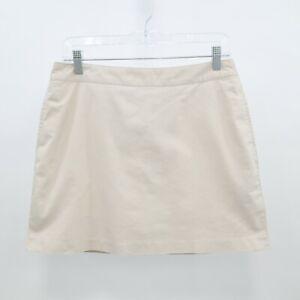 Adidas Golf Skort Skirt NEW Womens 4 Stretch Pocket Zipper Beige Tan Ecru
