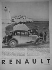 PUBLICITÉ DE PRESSE 1931 RENAULT MODÈLES GRAND LUXE BERLINE SPORT NERVASTELLA