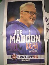 10 16 2016 SUN TIMES NEWSPAPER JOE MADDON POSTER NLCS CUBS BEAT LA 8-4 WRIGLEY !