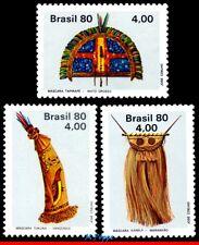 1686-88 BRAZIL 1980 INDIGENOUS ART, MASK, COSTUME, SET MNH