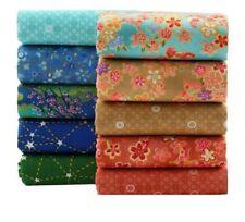 Patchwork Fabrics Quilting Fat Quarter Bundle For Bedding Pillows Cushion 10 Pcs