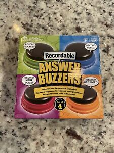 Learning Resources Recordable Answer Buzzers Buttons-Set of 4  Good Working Cond