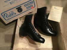 Vtg Riedell Skating Shoes Nos Never Used Roller Ice 220B Size 4 Boots Only