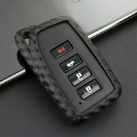 US For Lexus Carbon Fiber Car Key Fob Case Cover Chain Ring Keychain Accessories