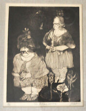 """Peter PAONE listed artist """"Two Italian Women"""" 2/20 print ~ Surrealist  NY/Philly"""