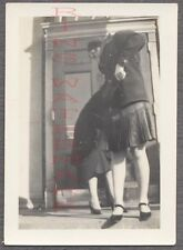 Unusual Vintage Photo Candid View of Pretty Girls Turning Back 711425